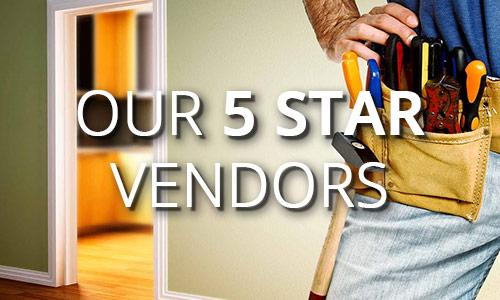 Our 5 star vendors